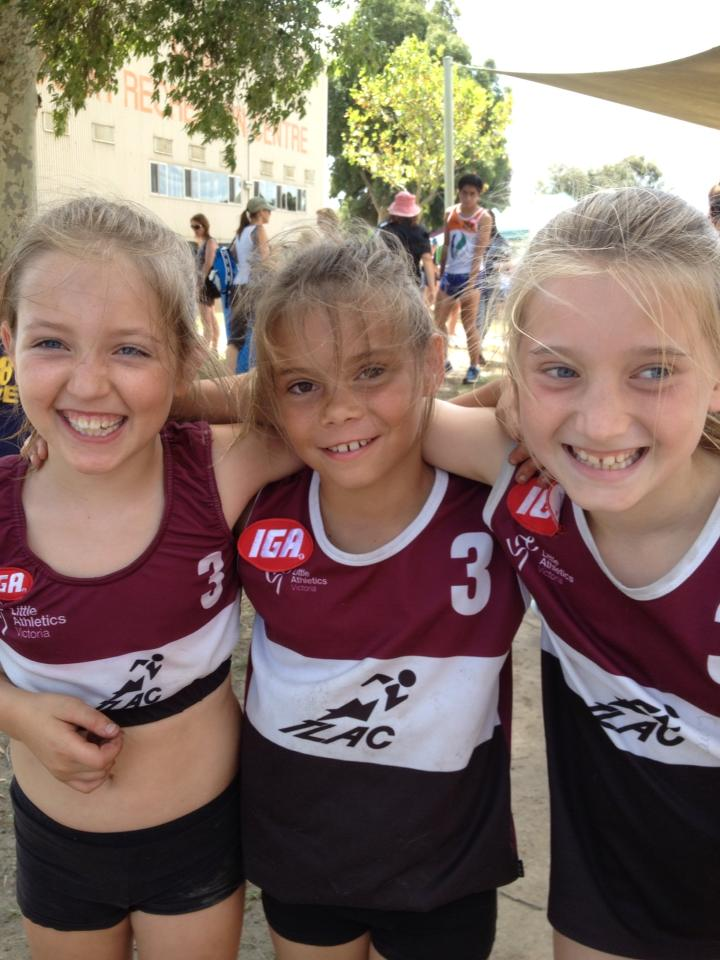 little girl athletics